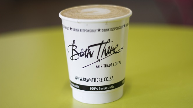 Bean There's take-away coffee cups are 100% compostable.