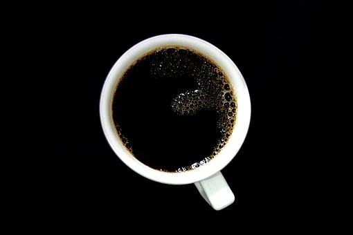 African black coffee in a mug town down view